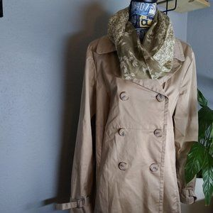 OLD NAVY Tan Trench Coat Size XL